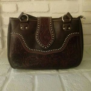 Montana West Dark Brown Faux Leather Purse